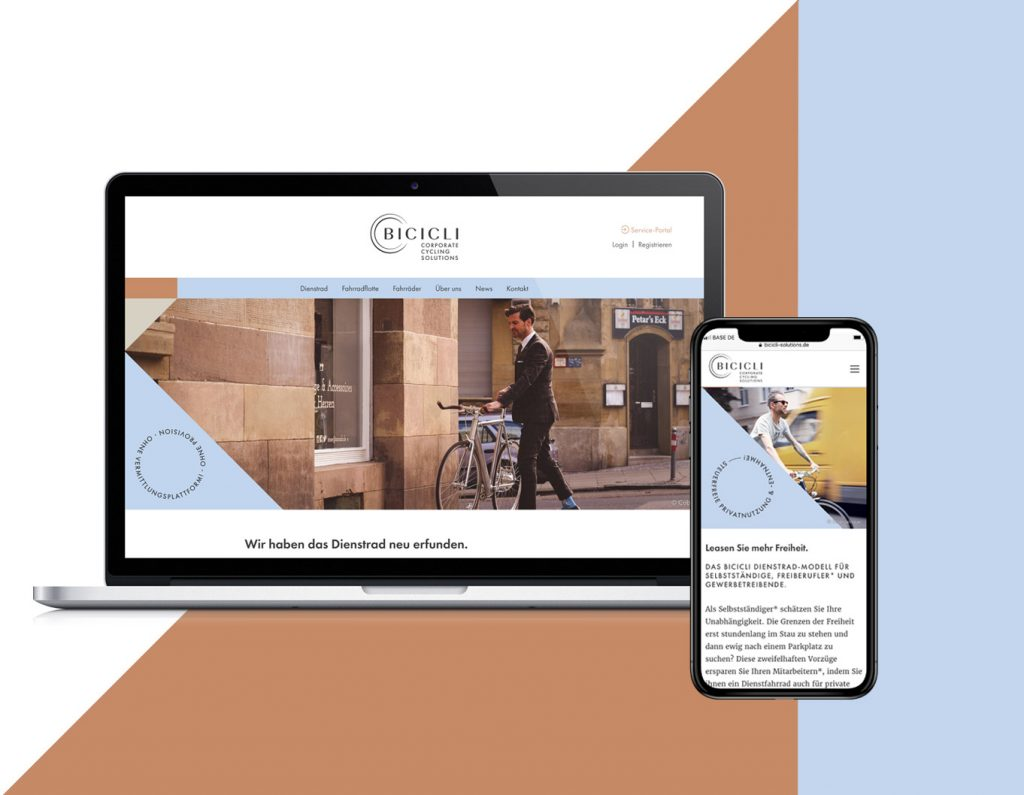 Referenzen Leistungen BICICLI Webdesign