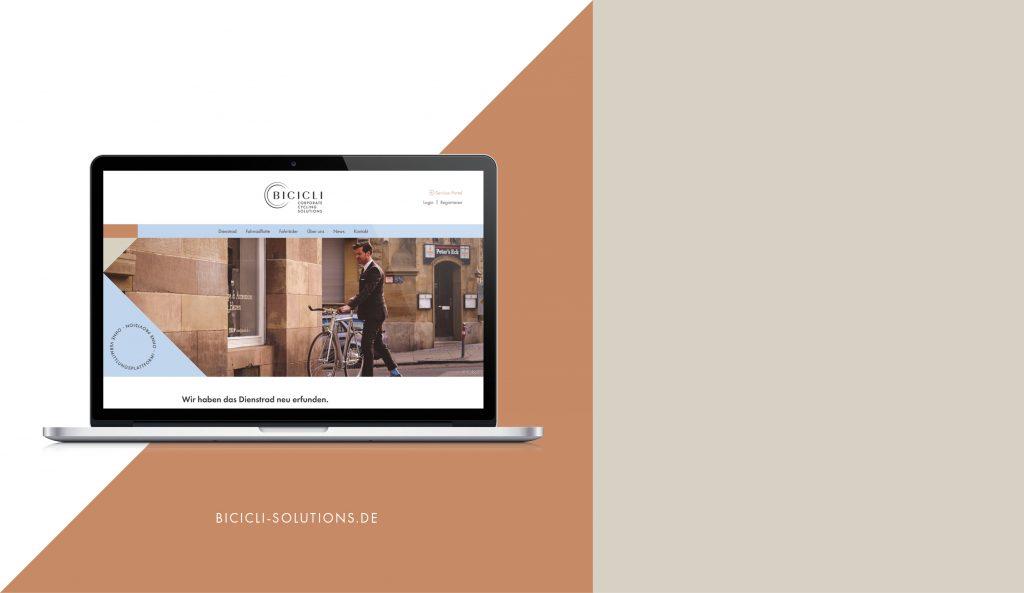 BICICLI Website Desktop