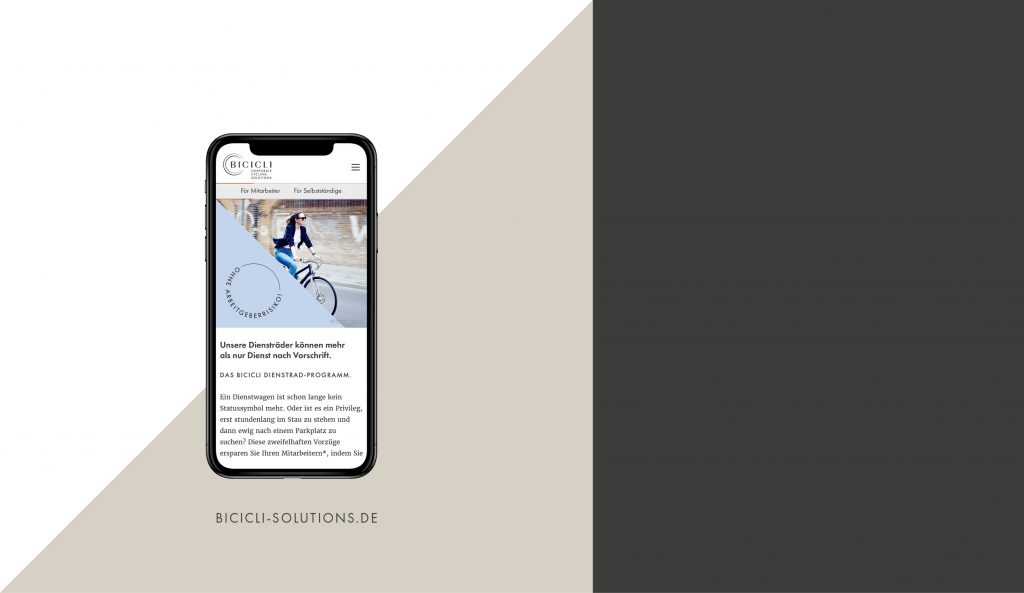 BICICLI Website Mobile Device
