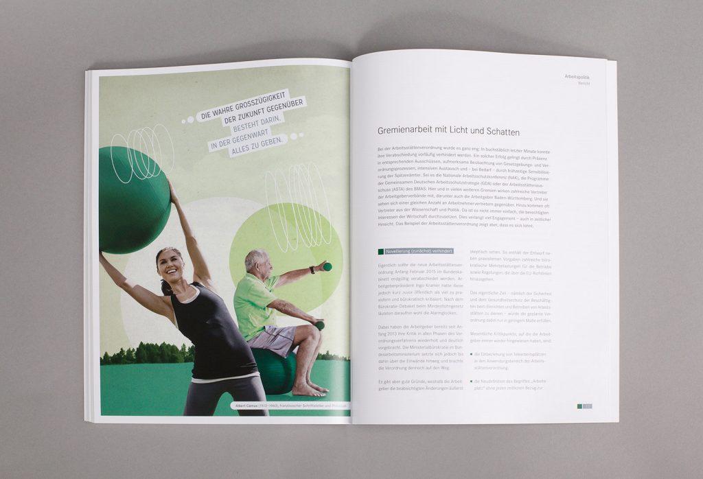 AGV Geschäftsbericht Collage Arbeitspolitik