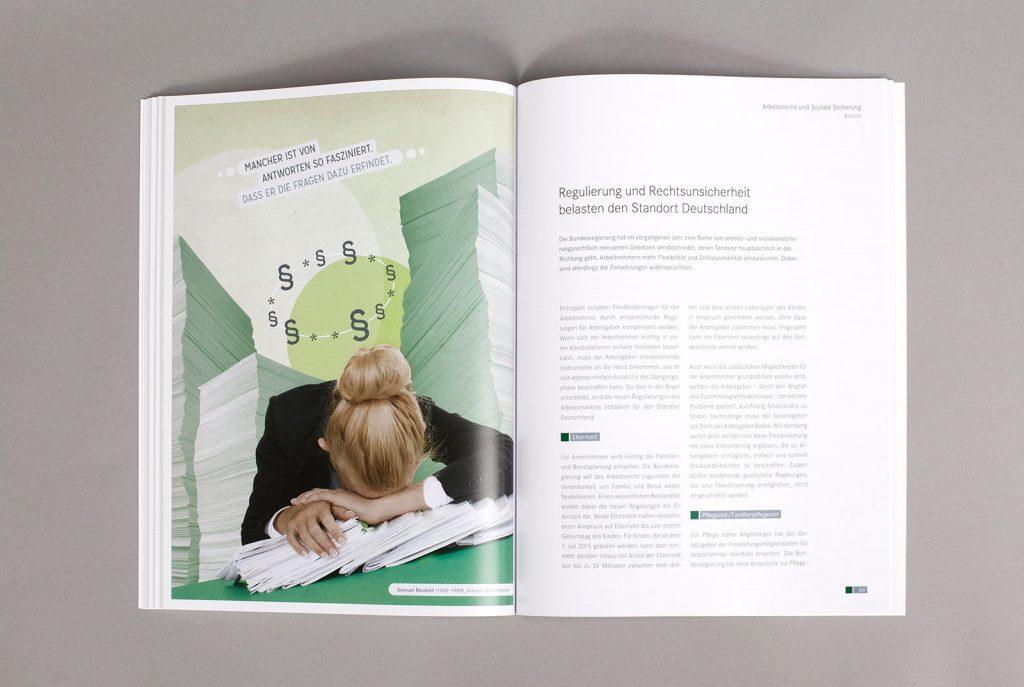 AGV Geschäftsbericht Collage Arbeitsrecht