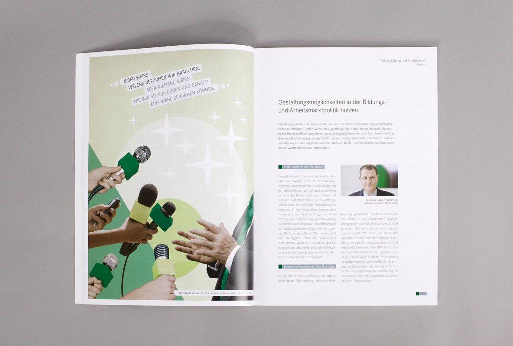 AGV Geschäftsbericht Collage Bildung
