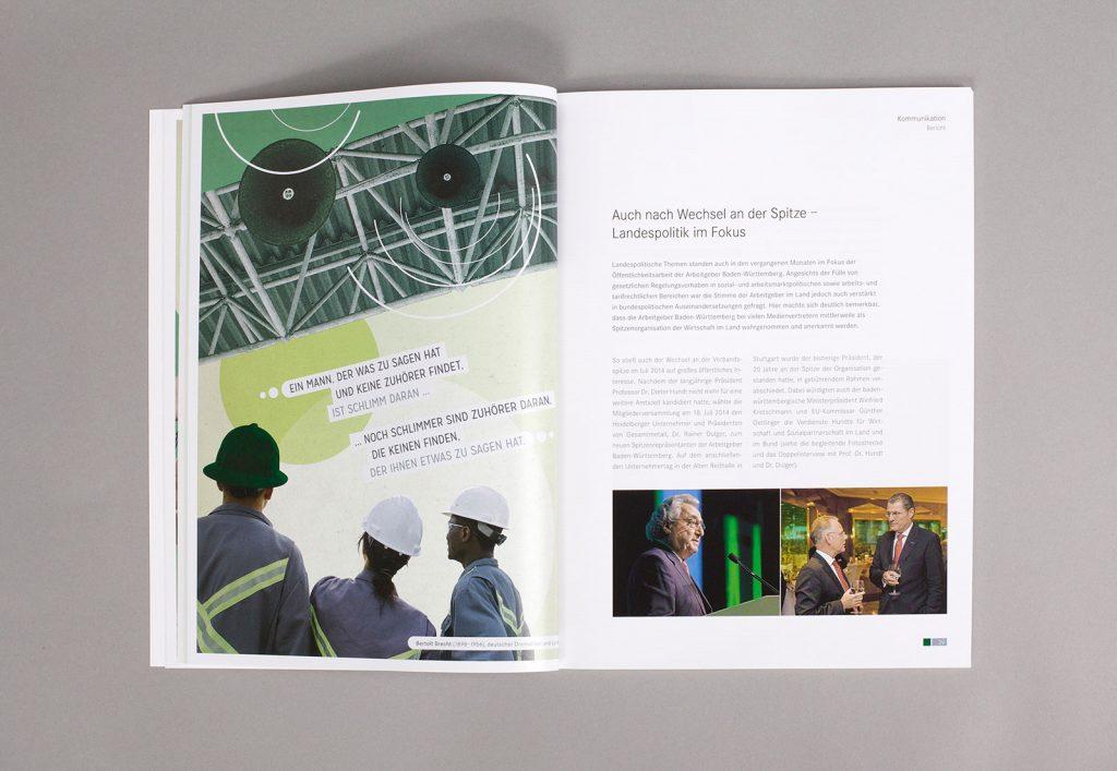 AGV Geschäftsbericht Collage Kommunikation