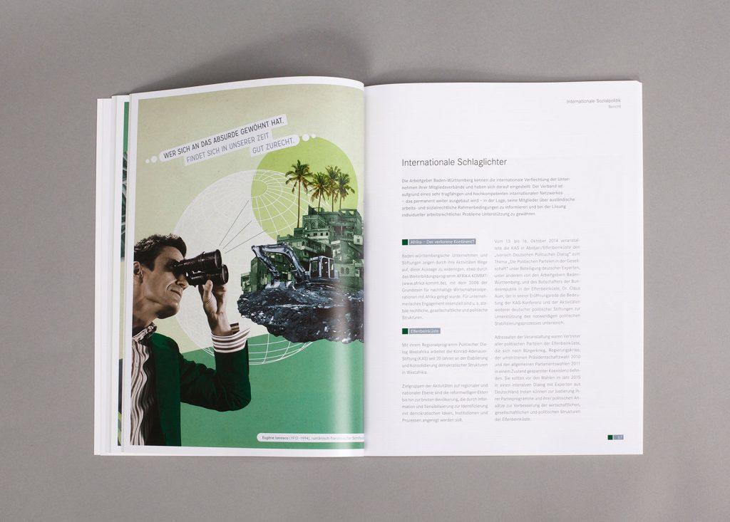 AGV Geschäftsbericht Collage Sozialpolitik