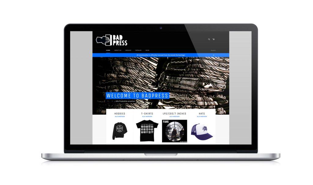Bad Press Website Online Shop