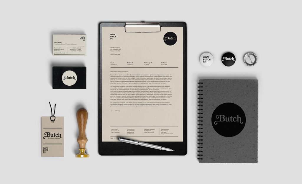 Butch Branding Geschäftsausstattung Visitenkarte