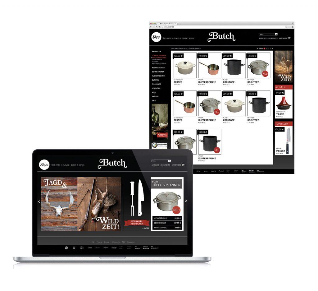 Butch Branding Website Online Shop