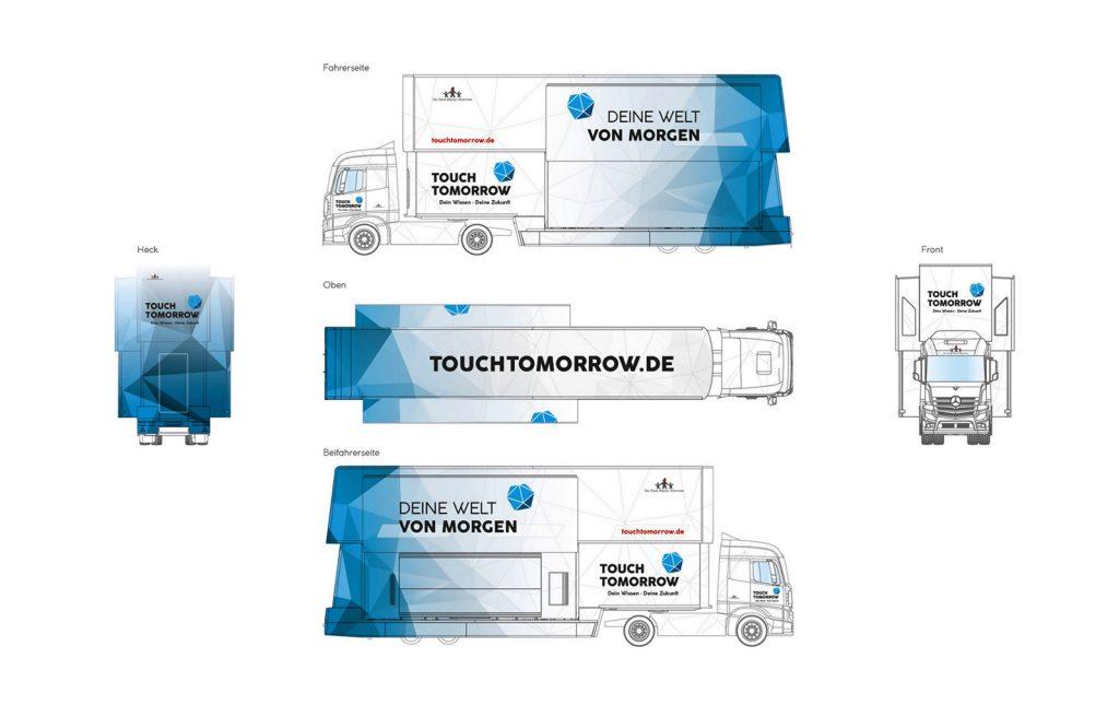 Touch Tomorrow Truck Entwurf Skizze